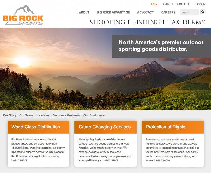 Big Rock Sports Website